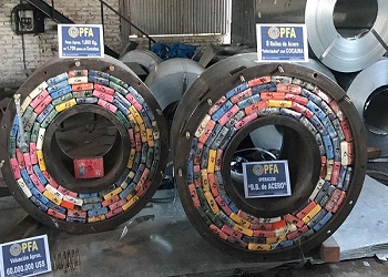 Steel coils were used to hide two metric tons of cocaine in Argentina