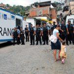 Police and civilians in Rio de Janeiro