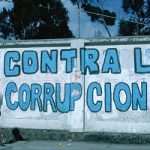 "Graffiti that reads ""Against Corruption"""