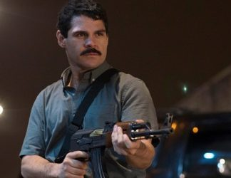 "Marco de la O as drug lord  Joaquín Archivaldo Guzmán Loera in the Netflix series ""El Chapo"""