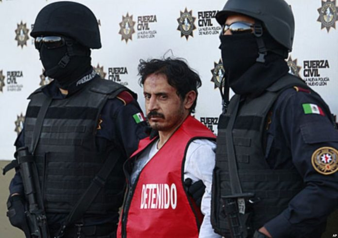 Zetas' leader Balazar Saucedo Estrada after being captured