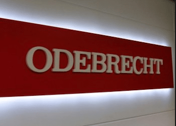 The logo of Brazil's once-mighty construction giant, Odebrecht