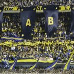 Boca Juniors supporters during a game