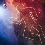 Depiction of a homicide crime scene
