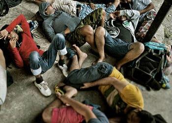 Migrants on the Colombia-Panama border