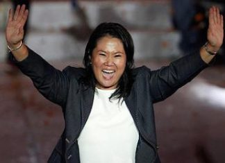 Keiko Fujimori, accused of ties to Odebrecht scandal