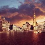 The Belgium port city of Antwerp