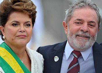 "Former Brazil Presidents Dilma Rousseff and Luiz Inácio ""Lula"" da Silva"