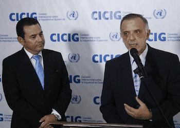 Guatemala President Jimmy Morales and CICIG head Iván Velásquez