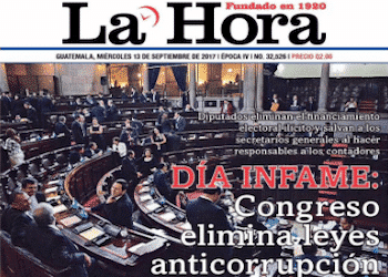"""Day of infamy,"" reads Guatemala newspaper headline"
