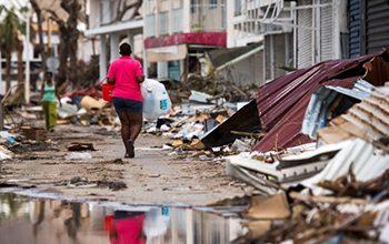 Devastation in Saint Martin after Hurricane Irma