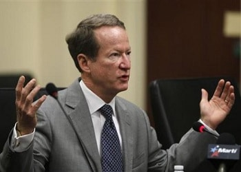 Outgoing head of US Bureau of International Narcotics and Law Enforcement Affairs William Brownfield