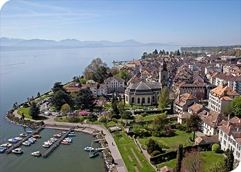 The Swiss town of Morges, where Enrique Raís has fled