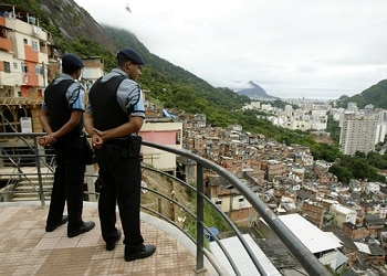 UPP officers in a Rio favela