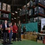 Colombia's President Juan Manuel Santos announces the country's largest-ever contraband sting