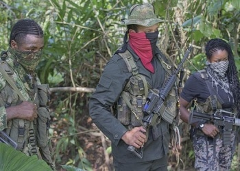 Guerrilla fighters of the ELN group