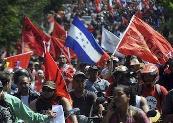 Manifestación tras las elecciones de Honduras