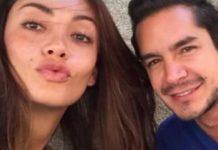 Juan Pablo Muñoz Hernández with Colombian actress and model Carolina Guerra