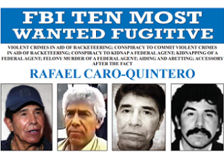 The FBI is offering $20 million for the arrest of Rafael Caro Quintero