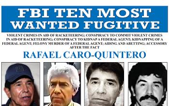 The FBI is offering $20 million for the arrest of Rafael Caro Quintero