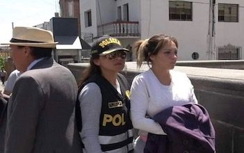 Cinthia Carolina Tell has been accused of leading a trafficking network in Peru