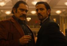 "In the first season of ""Narcos: Mexico,"" Diego Luna (right) plays Guadalajara Cartel founder Miguel Ángel Félix Gallardo"