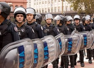 Argentina's Federal Police Force has nearly 30,000 members