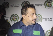 """Alexánder Uribe García, aka """"Banano,"""" was a leader of Los Pachelly, a gang in Bello, Colombia, until his arrest"""