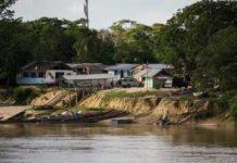 The Guyanese gold mining village of Etheringbang, on the Venezuelan border