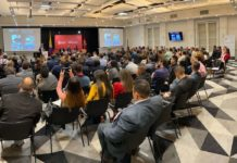 The crowd in attendance at the Transnational Organized Crime in the Americas: Trends and Perspectives 2019 – 2020 conference