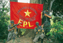 Divisions within the EPL guerrilla group mean that its flag may not fly for much longer